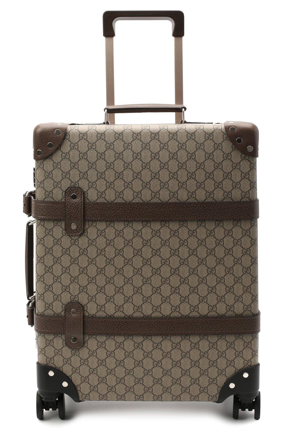 Мужской дорожный чемодан globe-trotter GUCCI бежевого цвета, арт. 533618/9VEFW | Фото 5