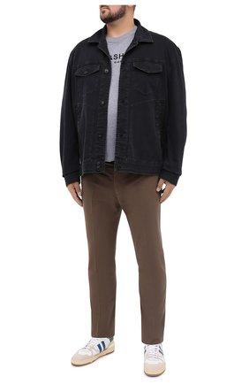 Мужская хлопковая футболка PAUL&SHARK серого цвета, арт. A20P1678/C00/3XL-6XL | Фото 2