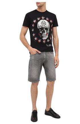 Мужские джинсовые шорты PHILIPP PLEIN светло-серого цвета, арт. F20C MDT2283 PDE004N | Фото 2