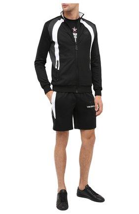Мужские шорты PHILIPP PLEIN черного цвета, арт. F20C MJT1668 PJO002N | Фото 2