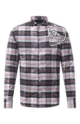 Мужская рубашка PHILIPP PLEIN серого цвета, арт. F20C MRP1358 PTE003N | Фото 1