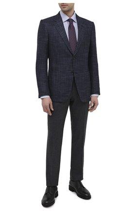 Мужской кожаные дерби ERMENEGILDO ZEGNA черного цвета, арт. A4747X-LHCV0 | Фото 2