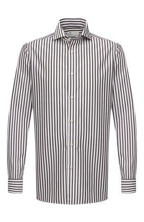 Мужская хлопковая сорочка LUIGI BORRELLI коричневого цвета, арт. EV08/LUCIAN0/TS30855 | Фото 1