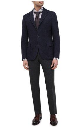 Мужская хлопковая сорочка LUIGI BORRELLI коричневого цвета, арт. EV08/LUCIAN0/TS30855 | Фото 2
