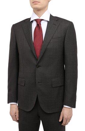 Мужской шерстяной костюм CORNELIANI коричневого цвета, арт. 867268-0817218/92 Q1   Фото 2