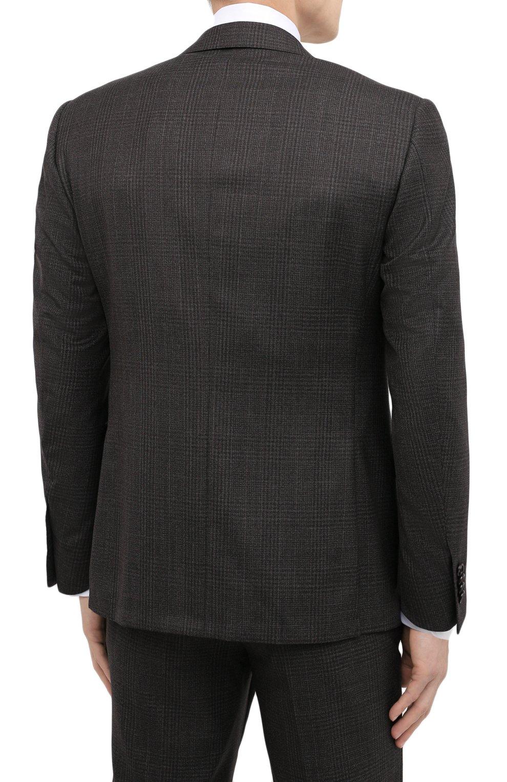 Коричневый шерстяной костюм мужской купить ткань для тента качелей