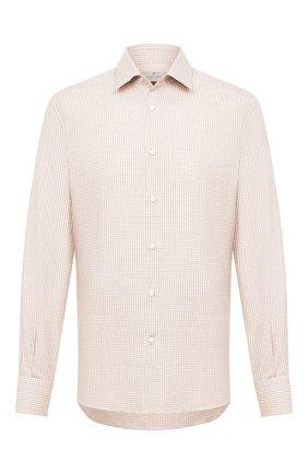 Мужская сорочка из хлопка и кашемира CANALI бежевого цвета, арт. XX14/GX01931   Фото 1