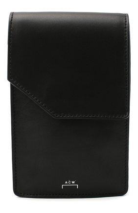 Мужская кожаная сумка A-COLD-WALL* черного цвета, арт. ACWUGL009 | Фото 1