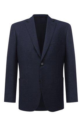 Мужской шерстяной пиджак BRIONI темно-синего цвета, арт. RGQ00L/09A6I/D0R0TE0   Фото 1