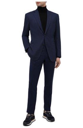 Мужской шерстяной пиджак BRIONI темно-синего цвета, арт. RGQ00L/09A6I/D0R0TE0   Фото 2