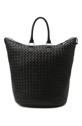 Мужская кожаная сумка BOTTEGA VENETA черного цвета, арт. 641023/V05J1 | Фото 1