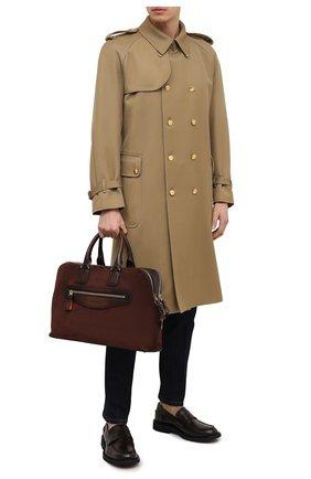Мужская замшевая сумка для ноутбука SANTONI темно-коричневого цвета, арт. UIBBA2010LI-H2RUT50 | Фото 2