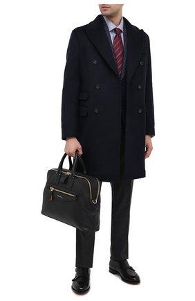 Мужская кожаная сумка для ноутбука SANTONI черного цвета, арт. UIBBA2010LI-HMA1N01 | Фото 2