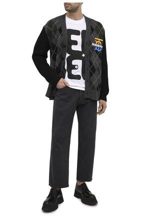 Мужская кардиган из шерсти и кашемира BURBERRY темно-серого цвета, арт. 8033418 | Фото 2