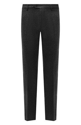 Мужские шерстяные брюки BERWICH темно-серого цвета, арт. ZIP/1 ALC/AN4326 | Фото 1 (Материал подклада: Купро; Материал внешний: Шерсть; Длина (брюки, джинсы): Стандартные; Случай: Повседневный; Стили: Кэжуэл)