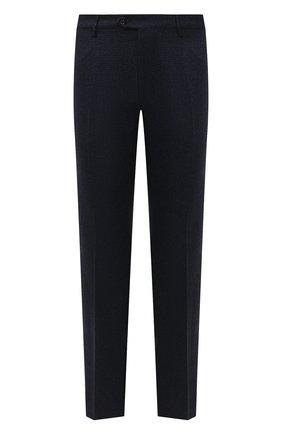Мужские шерстяные брюки BERWICH темно-синего цвета, арт. ZIP/1 ALC/AN4326 | Фото 1 (Материал внешний: Шерсть; Длина (брюки, джинсы): Стандартные; Материал подклада: Купро; Случай: Формальный; Стили: Кэжуэл)