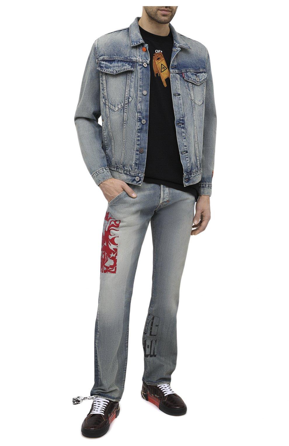 Мужская джинсовая куртка heron preston x levi's HERON PRESTON синего цвета, арт. HMYE006S209250237388 | Фото 2