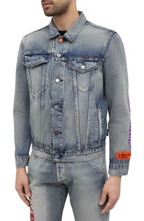 Мужская джинсовая куртка heron preston x levi's HERON PRESTON синего цвета, арт. HMYE006S209250237388 | Фото 3