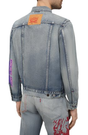 Мужская джинсовая куртка heron preston x levi's HERON PRESTON синего цвета, арт. HMYE006S209250237388 | Фото 4