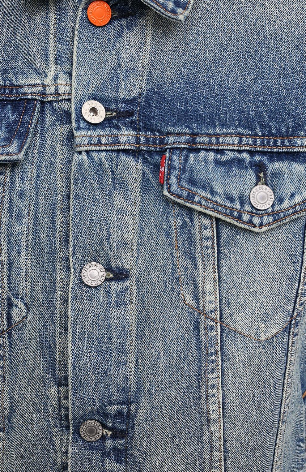 Мужская джинсовая куртка heron preston x levi's HERON PRESTON синего цвета, арт. HMYE006S209250237388 | Фото 5