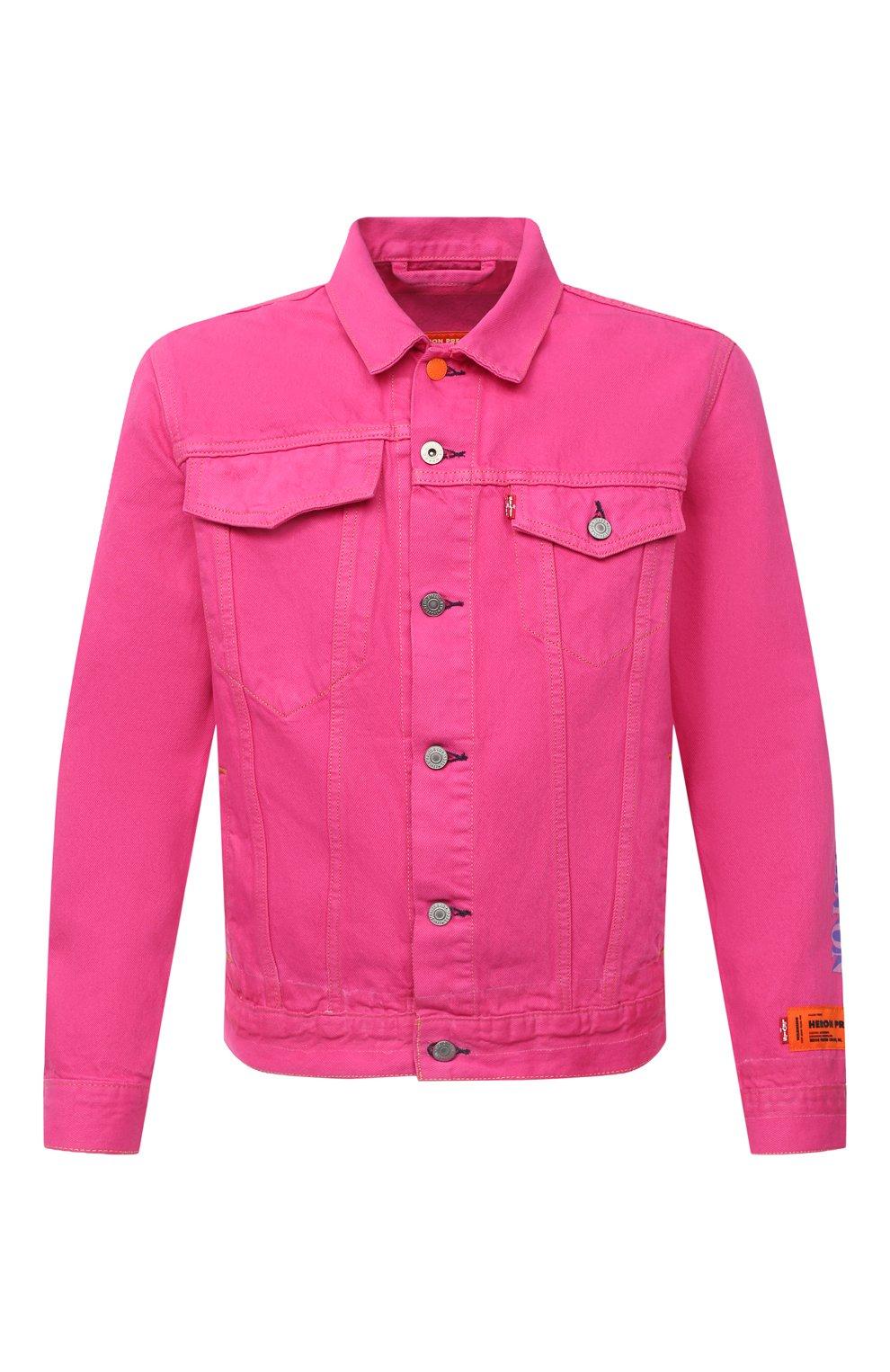 Мужская джинсовая куртка heron preston x levi's HERON PRESTON розового цвета, арт. HMYE006S209270232888 | Фото 1
