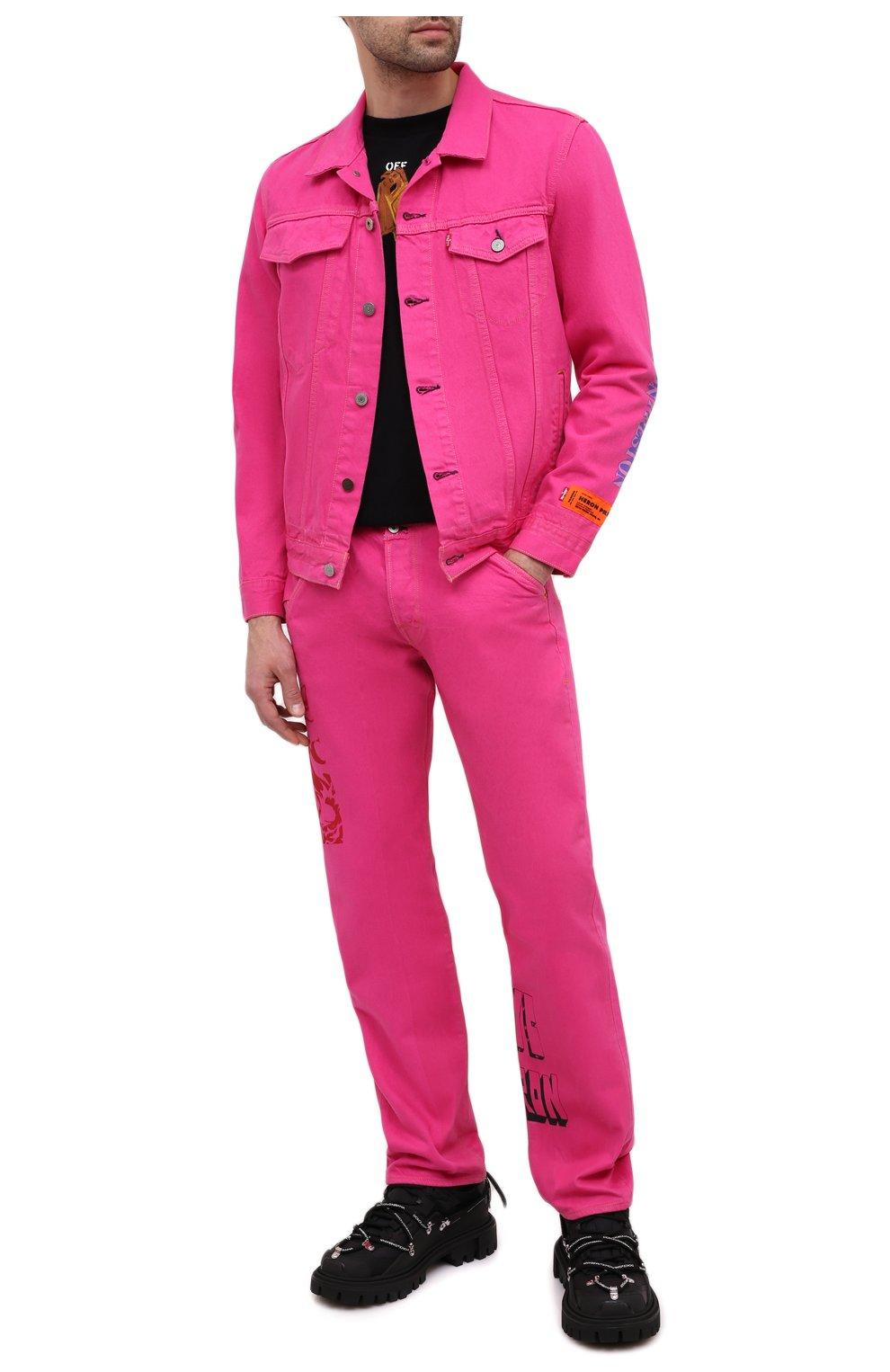 Мужская джинсовая куртка heron preston x levi's HERON PRESTON розового цвета, арт. HMYE006S209270232888 | Фото 2