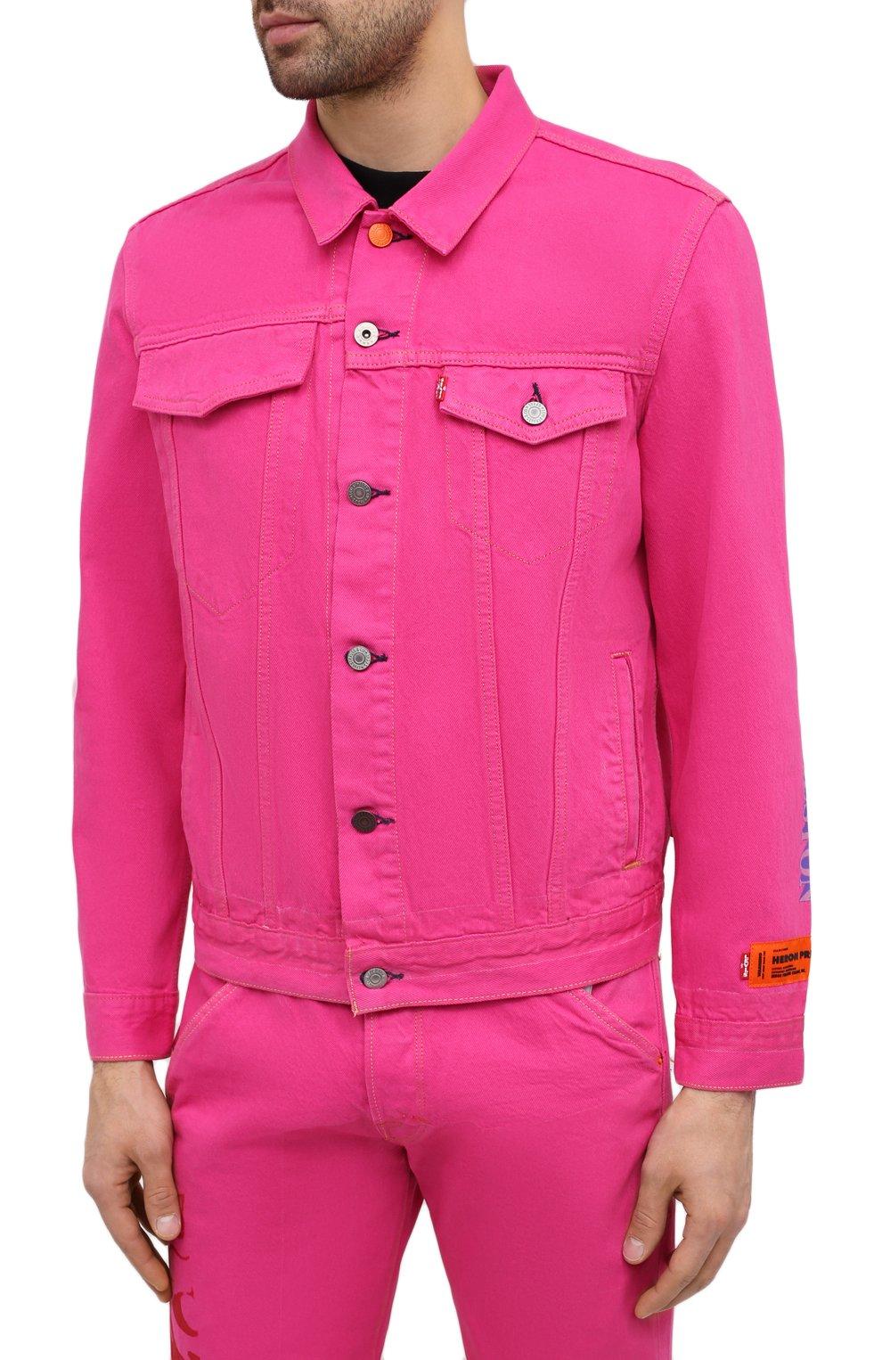Мужская джинсовая куртка heron preston x levi's HERON PRESTON розового цвета, арт. HMYE006S209270232888 | Фото 3