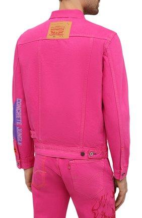 Мужская джинсовая куртка heron preston x levi's HERON PRESTON розового цвета, арт. HMYE006S209270232888 | Фото 4
