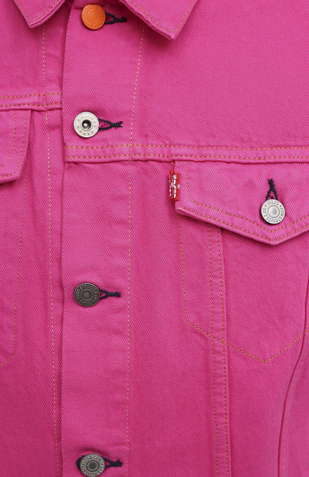 Мужская джинсовая куртка heron preston x levi's HERON PRESTON розового цвета, арт. HMYE006S209270232888 | Фото 5