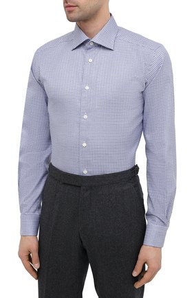 Мужская хлопковая сорочка ETON синего цвета, арт. 1000 01788 | Фото 3