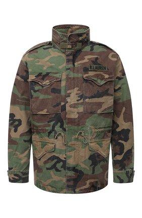 Мужская хлопковая куртка POLO RALPH LAUREN хаки цвета, арт. 710811278   Фото 1