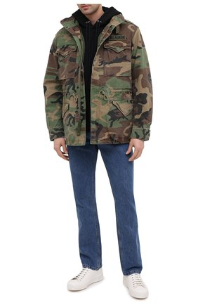 Мужская хлопковая куртка POLO RALPH LAUREN хаки цвета, арт. 710811278   Фото 2