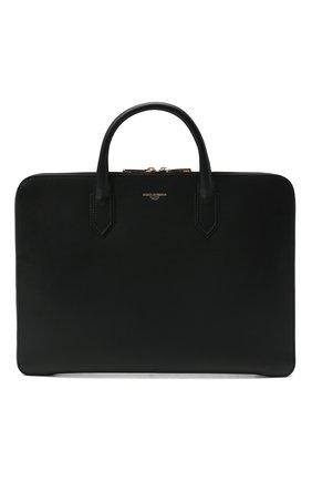 Мужская кожаная сумка для ноутбука monreale DOLCE & GABBANA черного цвета, арт. BM1710/AC954 | Фото 1