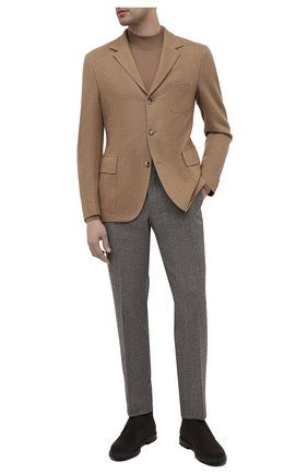 Мужской шерстяной пиджак CORNELIANI бежевого цвета, арт. 86X210-0818808/90 | Фото 2