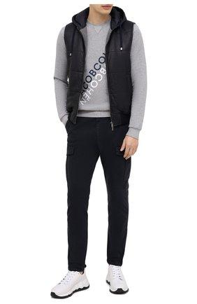 Мужские хлопковые брюки-карго ELEVENTY темно-синего цвета, арт. B70PANB05 TET0B023 | Фото 2