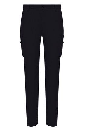 Мужской брюки-карго из шерсти и кашемира ELEVENTY PLATINUM темно-синего цвета, арт. B75PANA15 TES0B006 | Фото 1