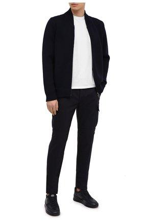 Мужской брюки-карго из шерсти и кашемира ELEVENTY PLATINUM темно-синего цвета, арт. B75PANA15 TES0B006 | Фото 2