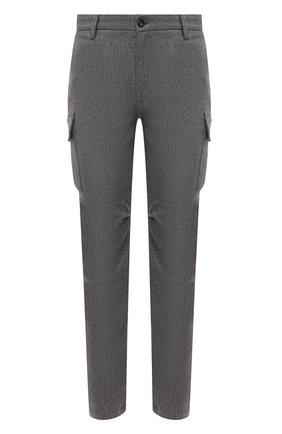 Мужской брюки-карго из шерсти и кашемира ELEVENTY PLATINUM темно-серого цвета, арт. B75PANA15 TES0B006 | Фото 1