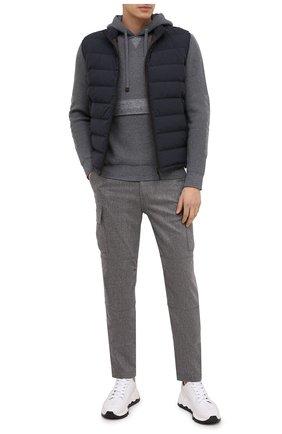 Мужской брюки-карго из шерсти и кашемира ELEVENTY PLATINUM темно-серого цвета, арт. B75PANA15 TES0B006 | Фото 2