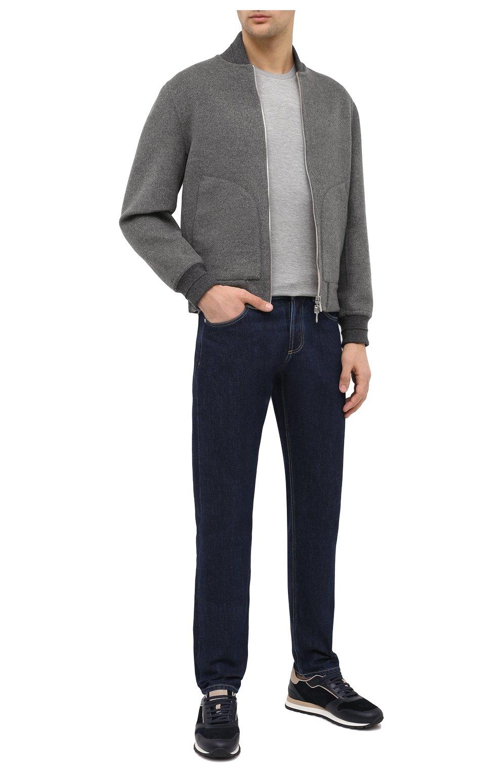 Мужская лонгслив из шелка и хлопка RALPH LAUREN серого цвета, арт. 790799193 | Фото 2