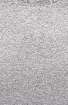 Мужская лонгслив из шелка и хлопка RALPH LAUREN серого цвета, арт. 790799193 | Фото 5