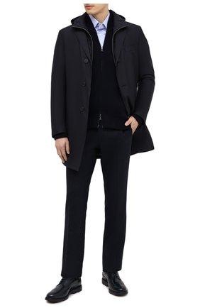 Мужской кожаные дерби HOGAN темно-синего цвета, арт. HXM3930BH707J7 | Фото 2