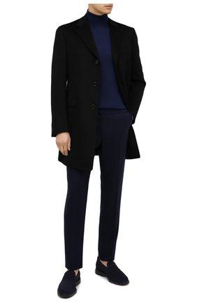 Мужские замшевые пенни-лоферы HOGAN темно-синего цвета, арт. HXM3930X230HG0   Фото 2