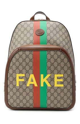 Мужской рюкзак «fake/not» GUCCI коричневого цвета, арт. 636654/2GCCG | Фото 1