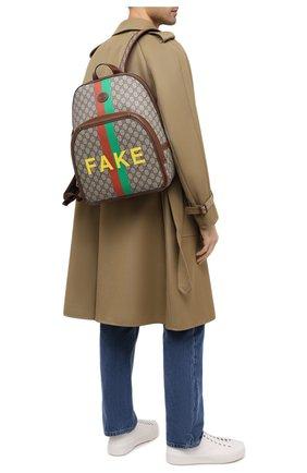 Мужской рюкзак «fake/not» GUCCI коричневого цвета, арт. 636654/2GCCG | Фото 2
