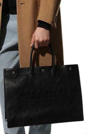 Мужская кожаная сумка noe large SAINT LAURENT черного цвета, арт. 587273/CWTFE | Фото 2