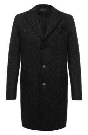Мужской шерстяное пальто Z ZEGNA черного цвета, арт. 897765/4DSGG0 | Фото 1 (Материал подклада: Вискоза; Длина (верхняя одежда): До середины бедра; Рукава: Длинные; Материал внешний: Шерсть; Мужское Кросс-КТ: Верхняя одежда, пальто-верхняя одежда; Стили: Классический)