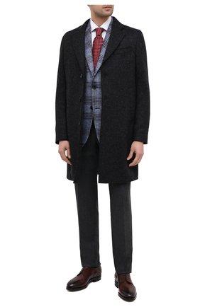 Мужской шерстяное пальто Z ZEGNA черного цвета, арт. 897765/4DSGG0 | Фото 2 (Материал подклада: Вискоза; Длина (верхняя одежда): До середины бедра; Рукава: Длинные; Материал внешний: Шерсть; Мужское Кросс-КТ: Верхняя одежда, пальто-верхняя одежда; Стили: Классический)