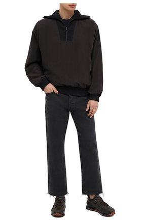 Мужские кожаные кроссовки ERMENEGILDO ZEGNA хаки цвета, арт. A4402X-LHSRE | Фото 2 (Материал внутренний: Текстиль, Натуральная кожа; Подошва: Массивная; Стили: Классический)