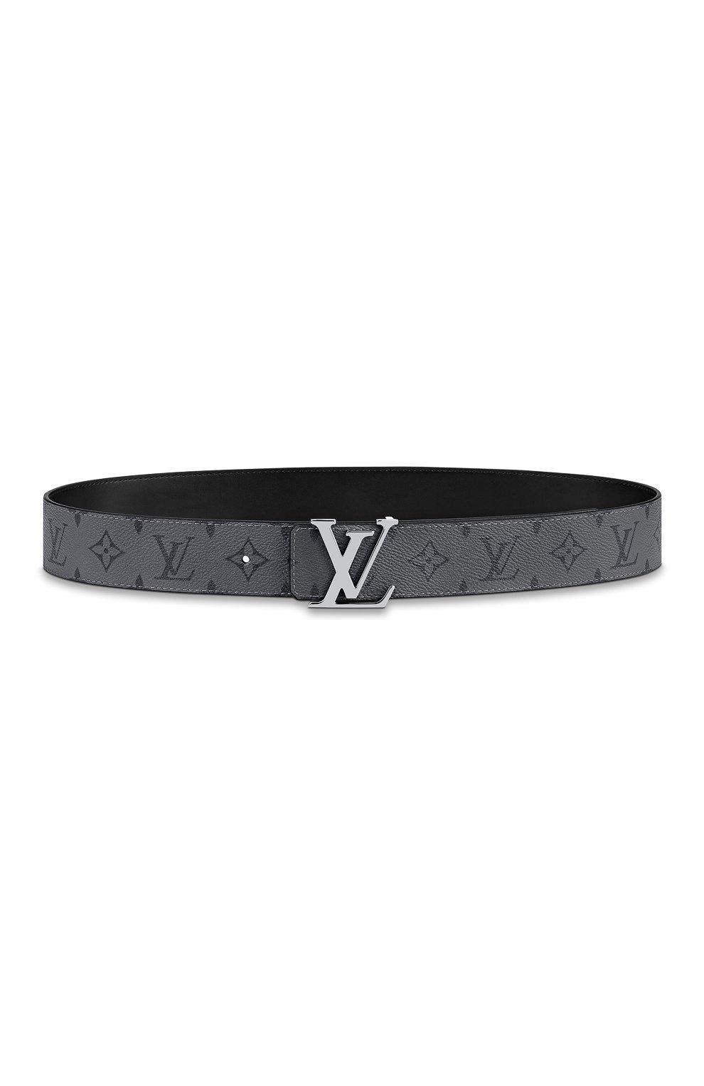 Мужской двусторонний ремень lv initiales LOUIS VUITTON серого цвета, арт. M0285T | Фото 1 (Случай: Повседневный)